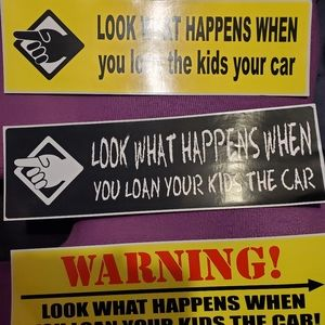 "Bumper Sticker ""Look What Happens"" NEW"